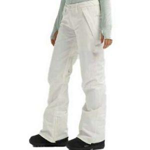 Burton White Snowboarding Pants Size Medium